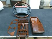 Mercedes W126 Wood Trim Set With Steering Wheel W126 Sec Wood Walnut W126 Burl