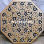 36 Marble Dining Table Top Lapis Mosaic Inlay Living Room Home Decor H4038b