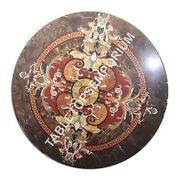 36 Marble Dining Table Top Pietra Dura Floral Inlay Furniture Home Decor E1087