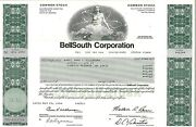Bellsouth Corporation 1987 Old Stock Certificate Share