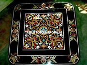 36 Marble Custom Table Top Multi Floral Inlay Furniture Christmas Decor H4572a