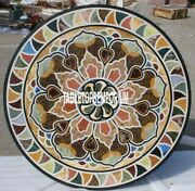 36 Marble Dining Table Top Pietra Dura Inlay Hallway Furniture Home Decor H4043