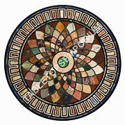 36x36 Marble Dining Table Top Marquetry Inlay Christmas Home Decor Gifts E470