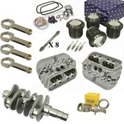1914cc Air-cooled Vw Engine Rebuild Kit 69mm Crank Gtv-2 Heads And Pistons