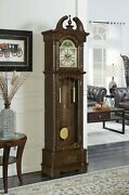 Traditional Grandfather Clock With Westminster Clock Chimes And Pendulum, Brown