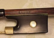 Ant Lupot Violin Bow Wood Round Shaft Beautiful Tip Frog And Winding