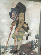 Painting Early 19 Th Curiosity Fabric And Painting Caricature Funny