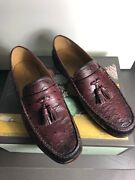 New Luxury Shoes Ostrich Man Shoes Made In Italy Bamboo Mocassins Loafer