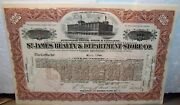 1912 St. James Realty And Department Store Co. Stock Certificate Cohen Brothers