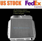 3row Aluminum Radiator Fits For 1955-1959 Chevy Pickup Truck 1956 1957 1958 5559