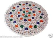2and039x2and039 Marble Center Coffee Table Top Marquetry Mosaic Inlay Garden Decor Gifts