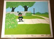 Lucky Charms Cereal 1960s Key Master Production Cel Background Bill Melendez