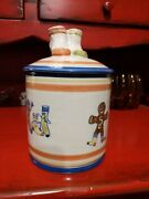 Rare Louisville Stoneware Canister Cookie Jar For The Sockyard Company Inc.