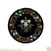2and039x2and039 Marble Coffee Top Table Inlay Gems Marquetry Floral Furniture Home Decor