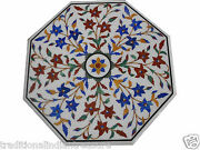 2and039x2and039 Marble Coffee Table Top Semi Lapis Pietra Dure Marquetry Inlay Decor Gifts