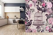 3d Bird Cage Flower G139 Wallpaper Mural Self-adhesive Andrea Haase Sunday