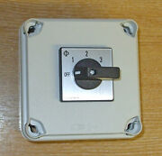 Mains 240v Power Selector Switch 16amp 2 Pole 3 Way With Mounting Box Pss116+box