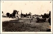 B.e. Hixon Blue And White Cabins Rt 422 Rt 224 West Of New Castle Pa Rppc Postcard
