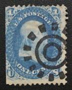 1861 Scarce Us 63 With Crisp And Clear Type 3 San Francisco Cogwheel Cancel