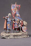 Tin Toy Soldiers Elite Painted 54 Mm Teutonic Order Crusader Knights With Flag