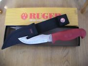 Rare 2005 Case Ruger Fixed Blade Knife Never Used In Box Lt275-4g Ss Red