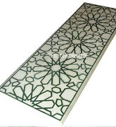 2.5and039x5and039 White Marble Dining Table Top Malachite Gem Marquetry Outdoor Home Decor