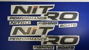 Nitro Boats Emblems 33 + Free Fast Delivery Dhl Express - Raised Decal Stickers