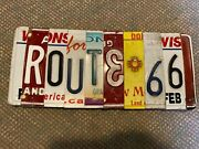 A79 - Route 66 New Mexico Mother Road Recycled License Plate Art Sign