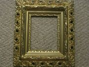 Antique Picture Frame Ornate Gold Beautifully Detailed Wood Gilt Victorian