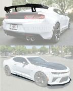 Refresh Zl1 1le Style Front Lip Side Skirts And Rear Spoiler For 16-up Camaro Ss