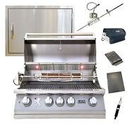 Lion 32-inch 4-burner Grill L75000 W/ Made In Usa 24x17 Horizontal Access Door