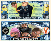 Despicable Me And Minions Million Dollar Bill Funny Money Novelty Note Free Sleeve