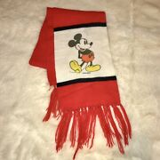 Vintage 1980s 1990s Disney Mickey Mouse Knitted Scarf Unisex