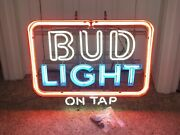 New Old Stock - Rare Budweiser On Tap Neon Commercial Sign Ships Free