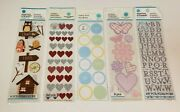 Lot Of 5 Packs Of Martha Stewart Crafts Stickers Brand New Sealed Scrapbooking