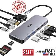 Top Czi Usb C Adapter With 4k Hdmi, Vga, Type C Power Delivery, Audio Port,rj-45