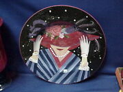 Large Art Pottery Platter Plate Dish Display Console Bowl 16 1/2 Susan Winget