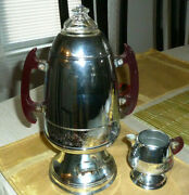 1940s Art Deco Vintage United Electric Coffee Maker 800 A And Creamer Parts/decor
