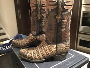 Lucchese New Classic Nile Crocodile Limited Edition Menand039s Boots Size 8.5d