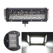 7 9d 3-sides 200w Led Work Light Bar Offroad Truck Pickup Fog Flood Lamp 12v 1x