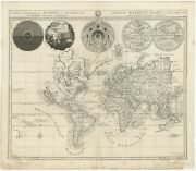Antique World Map By Mortier 1700