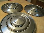 Lot Of 3 1974 1975 Ford Galaxie Country Squire Ltd Hubcaps Wheel Covers