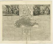 Antique Map Of England And London By Chatelain C.1720