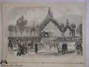 President Lincoln's Funeral Reception Chicago 1865 Engraving