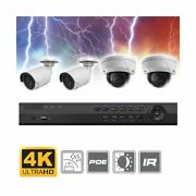 Tech-u-there Complete 4 Channel 4k Ultra Hd Bullet + Dome Ip Surveillance System