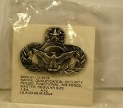 Usaf Air Force Master Security Police Oxidize Large Badge Pin Insignia Obsolete