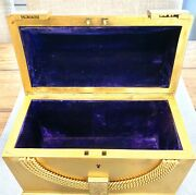 Antique French Ormolu Jewelry Casket Stationery 1800andrsquos 6x8x4andrdquo Stunning Piece