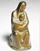 Vintage Bronze Statue Sculpture Madonna And Child By Late Rich Muno