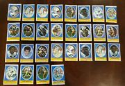 1972 Sunoco Football Stamps - San Diego Chargers Lot Of 28