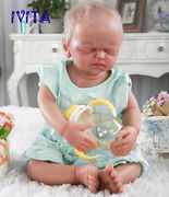 22 Artificial Hair Silicone Newborn Skeleton Doll Eyes Closed Girls Toys Gift